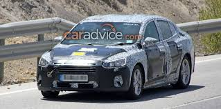 ford focus sedan spied