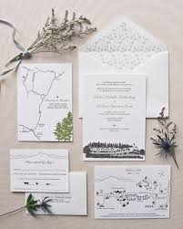 country chic wedding invitations rustic chic illustrated letterpress invitation suite