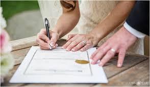 wedding signing pastel wedding photos denver botanic gardens chatfield