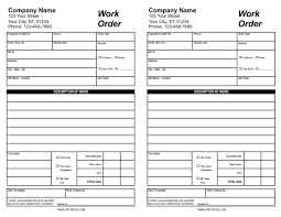 Order Sheet Template 30 Work Order Template For Free And Use