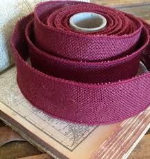 burgundy wired ribbon burgundy burlap jute wired ribbon by shymyrtle