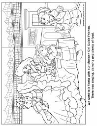 mexican guide coloring page thinking day pinterest