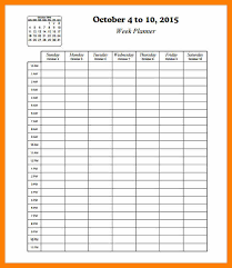4 hourly planner template ganttchart templatehourly schedule