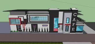 layout denah cafe poenyalya desain rumah cafe
