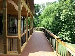 Balcony Design Ideas by Pressure Treated Porch With Composite Balcony Design Ideas