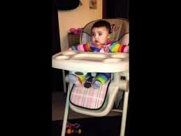 High Chair 3 Months 3 20 12 Hailey Dropping Her Toys Off High Chair 6 Months Youtube