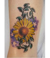 unique sunflower tattoo idea sheplanet