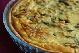 cuisiner blettes tarte aux blettes à la ricotta et aux pignons chez requia