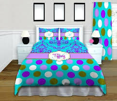 Polka Dot Comforter Queen Purple Polka Dot Comforter Sets Free Shipping Ruffled Floral Polka