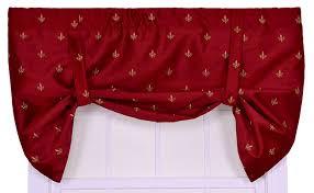 amazon com ellis curtain fleur di lis faux silk tailored valance
