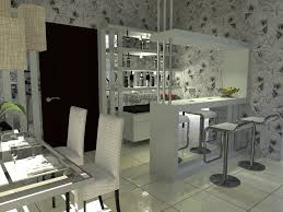 Kitchen Bar Furniture Small Kitchen Interior Design With Mini Bar Tablehome Design Blog