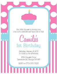pink birthday invitations cupcake 1st birthday invitations