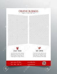 creative business flyer template red sleek simple modern design