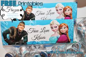disney u0027s frozen valentine u0027s kisses treat bag printables free