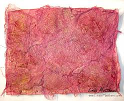 Textile Arts Now Tutorial 02 How To Make Textural Fabric Paper Matthews