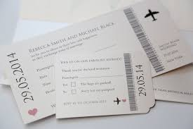 modern travel ticket wedding invitation plane ticket vintage