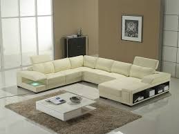 t132 modern off white leather sectional sofa