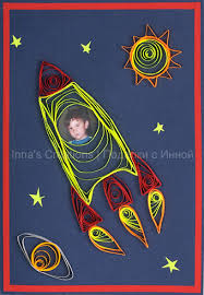 inna u0027s creations space rocket and planets quilled kids birthday card
