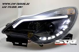 opel corsa 2009 sw drltube headlights opel corsa d facelift 11 15 led drl r87