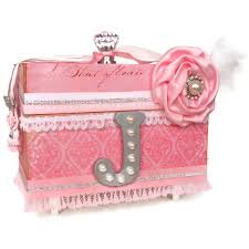 girl jewelry box personalized personalized jewellery keepsake box pink damask shabby chic