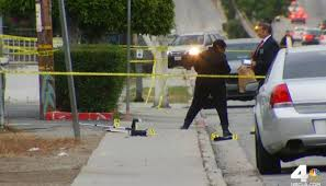 Compton Gang Map Series Of Weekend Shootings In Compton Leaves 4 Dead Nbc