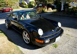 porsche 930 turbo wide body 1991 964 turbo 965 911 widebody in seattle black on tan
