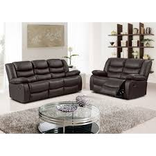 Brown Bonded Leather Sofa Belfast Dark Brown Recliner Sofa Collection In Bonded Leather