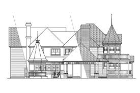 victorian house plans victorian 10 027 associated designs european house plan victorian 10 027 left elevation