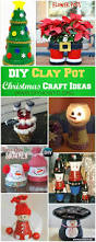 diy clay pot christmas craft ideas holiday decoration clay