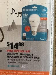 bluetooth light bulb speaker home depot home depot deal alerts discussion thread budgetlightforum com