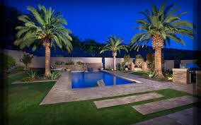 Desert Landscape Ideas For Backyards Arizona Landscaping Blog Blooming Desert Pools U0026 Landscapes