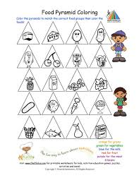printable color the food groups worksheet