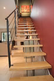 escalier design bois metal escalier droit steelmétal