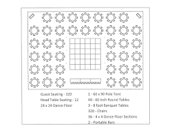 60 inch round table seats 60 x 90 pole tent seating arrangement