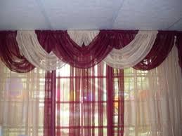 cenefas de tela para cortinas como hacer cortinas con ondas en la parte de la cenefa