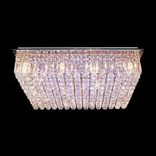 Crystal Ceiling Mount Light Fixture by Wonderful Grace And Sparkle Rectangular Crystal Flush Mount