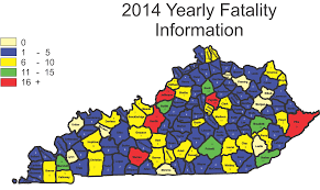 Ky Road Map Kentucky State Police Kentucky Highway Fatalities
