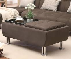 Tufted Grey Ottoman Coffee Table Ottoman And Coffee Table Leather Storage
