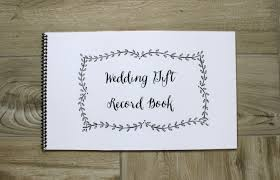 wedding gift registry book wedding gift record book