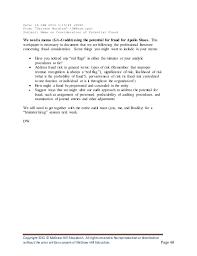 apollo shoes audit caseaudit memo 11 otop responsibilities audits