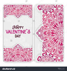 valentines day card template lacy romantic stock vector 367918046