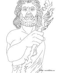 zeus coloring page zeus greek god coloring page free printable