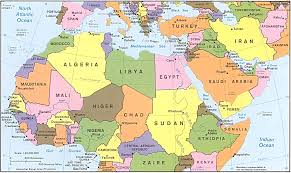 Map Of Western Asia by Map Of Europe Western Asia And Northern Africa For Of Europe And