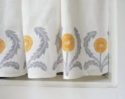 Contemporary Kitchen Curtains And Valances by Linen For Curtains Etsy