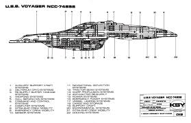 star trek blueprints intrepid class starship u s s voyager ncc 74656