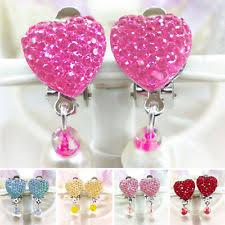 clip on earrings for kids heart clip on costume earrings ebay