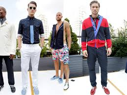 Nautical Theme Fashion - nautica 2013 spring summer mens runway collection denim jeans