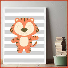 toile chambre enfant tableau chambre bebe animaux lovely décoration poster toile tigre