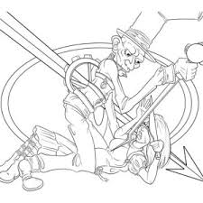 picture of mad hatter and alice having tea party coloring page