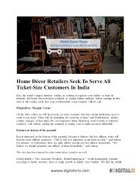 home décor retailers seek to serve all ticket size customers in india